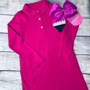 NWT Primary Sz 4-5 Polo Dress+Pencil Bow